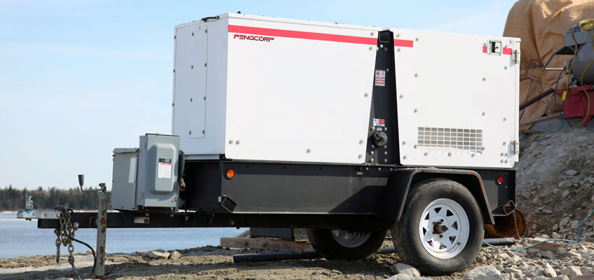Generator trailer for power and lighting rentals