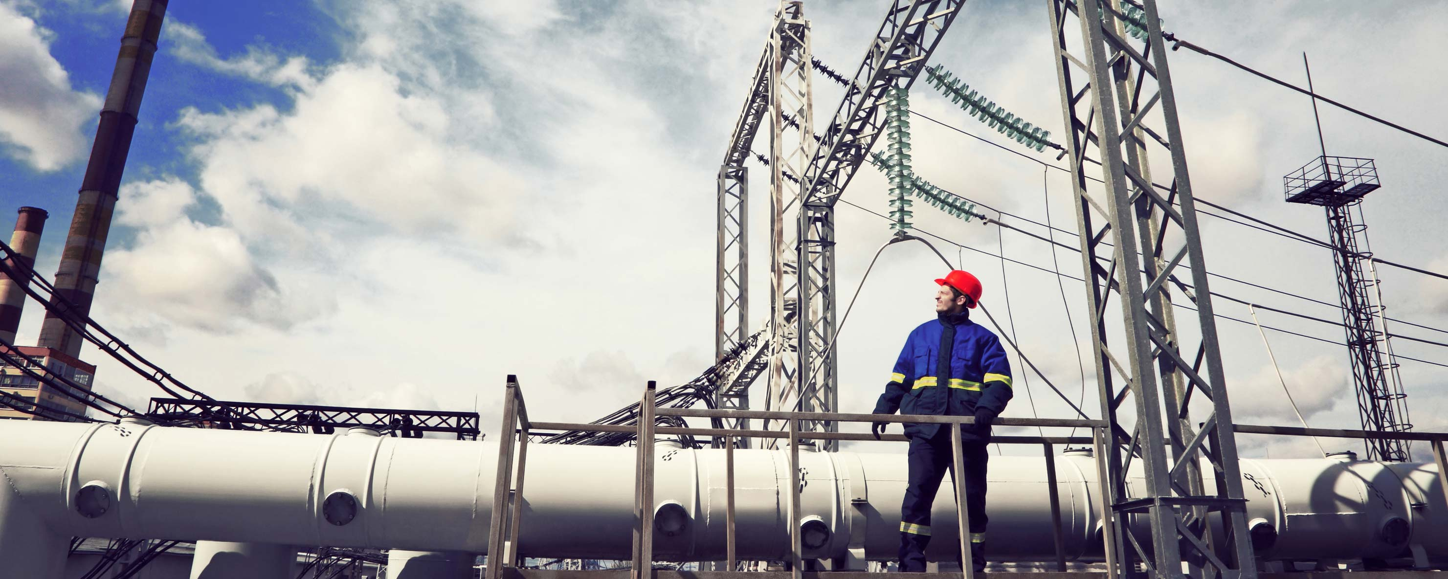 Worker at a power plant